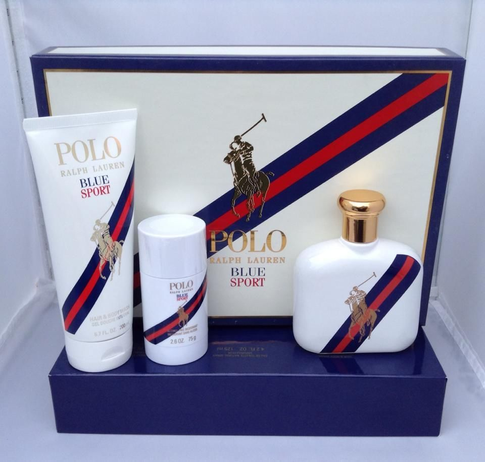 Polo Blue Sport By Ralph Lauren 3 Pcs Gift Set Brand New Ralphlauren Ralph Lauren Fragrance Gift Set Polo Blue
