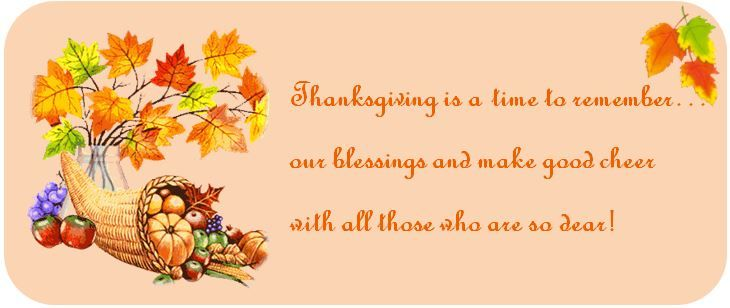 Happy Thanksgiving to you all !