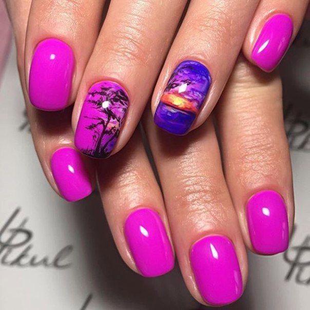 Маникюр. ногтей Дизайн. Nail Art semplice | VK