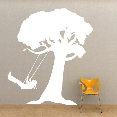 Girl on a Tree Swing Large Vinyl Wall Decal | WilsonGraphics ...