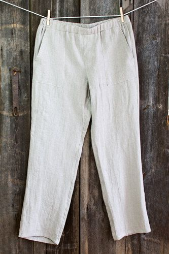 463164011c66 Linen PANTS Free shipping - Natural or offwhite linen pants