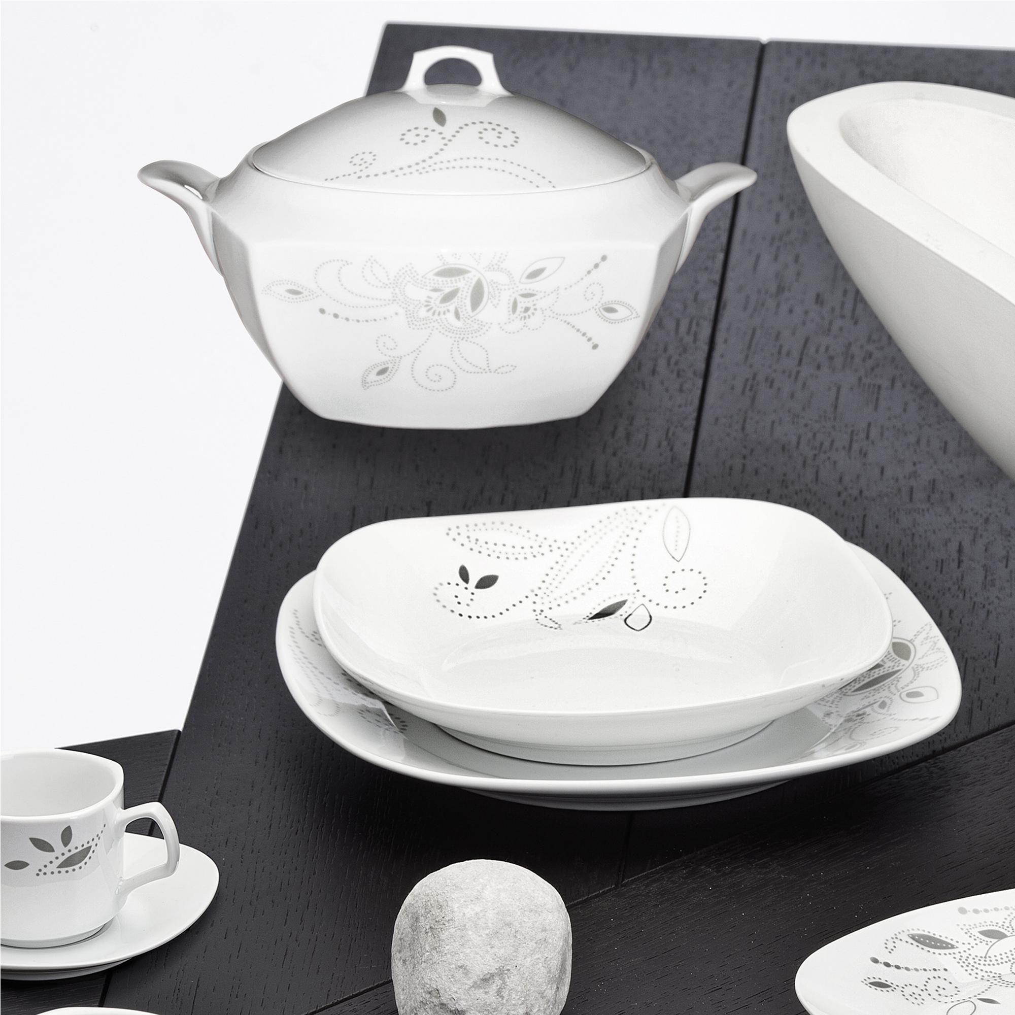 Serv 41 pezzi piatti Quebra Flor | Evviva | Stilcasa.Net: servizi piatti in porcellana