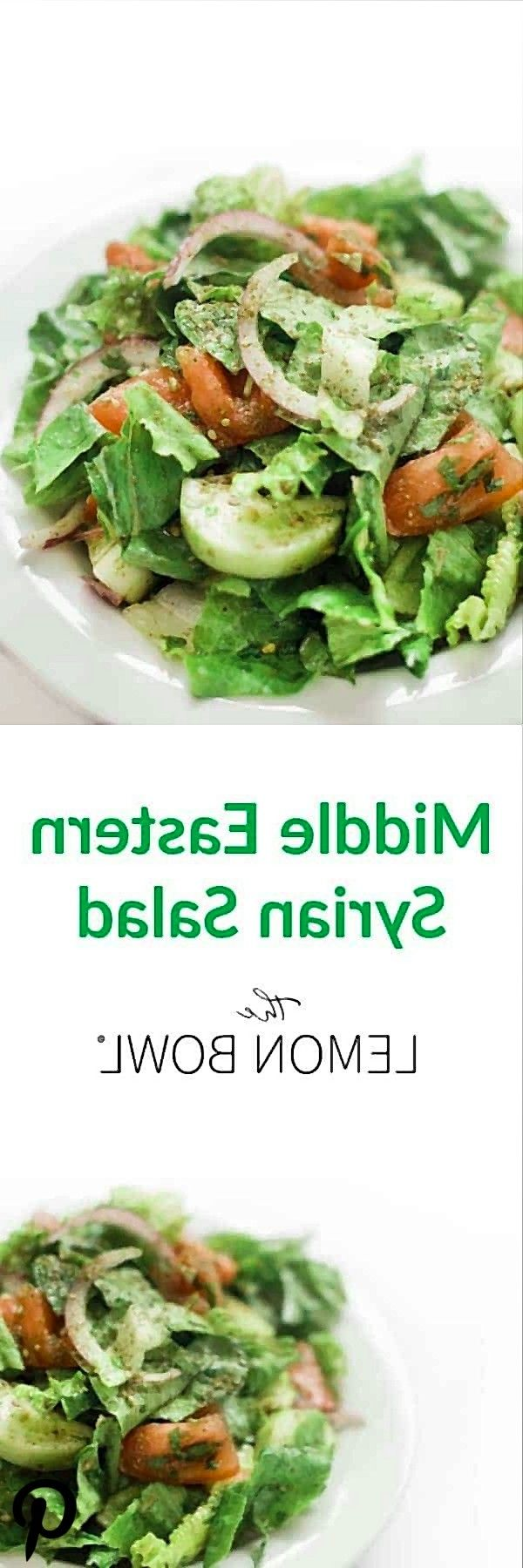 Middle Eastern Syrian Salad  The Lemon Bowl Middle Eastern Syrian Salad  The Lemon Bowl