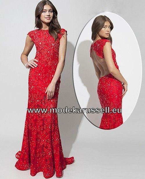 Rote kleider mit ruckenausschnitt