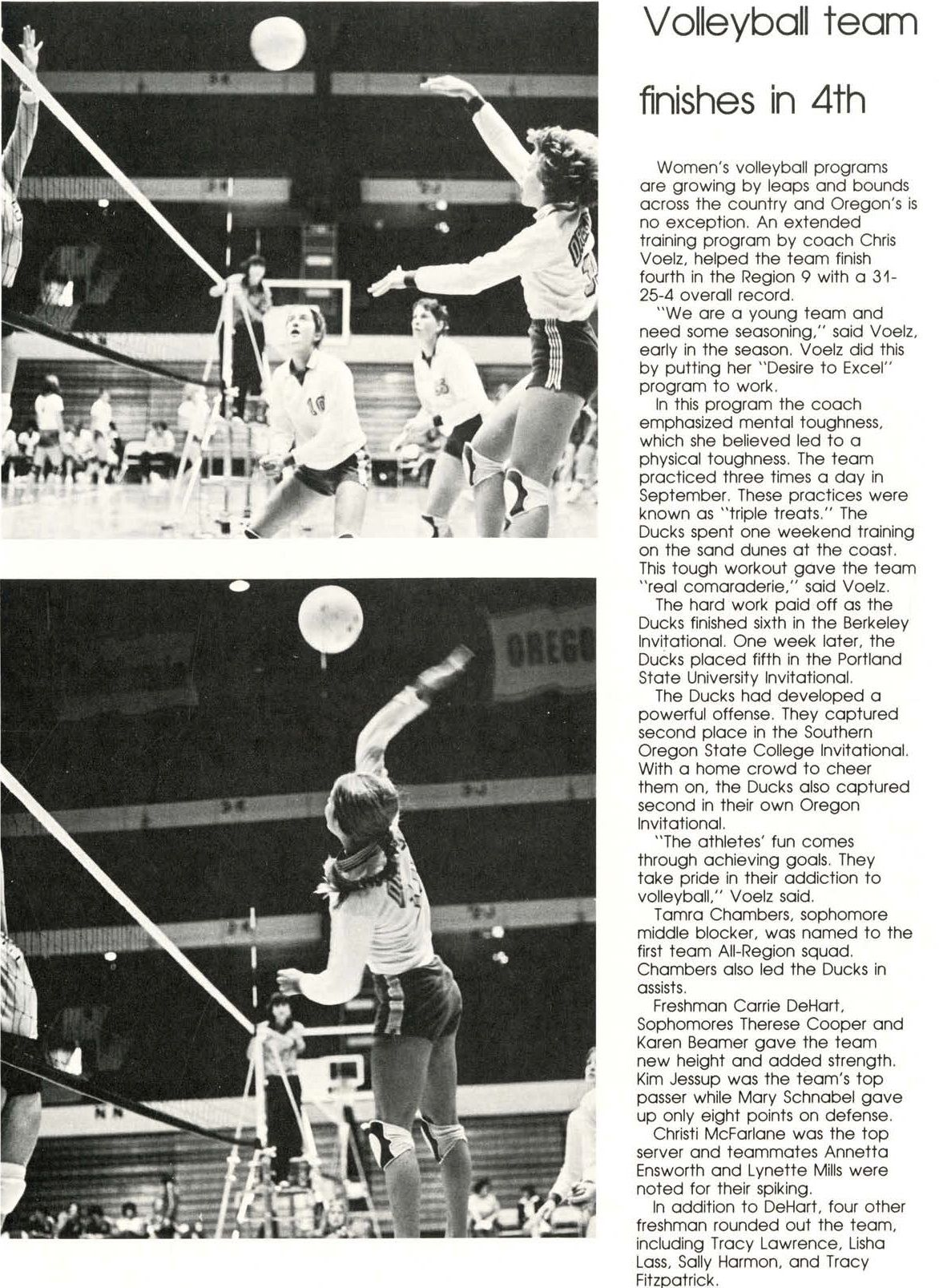Recap Of Oregon Women S Volleyball 1979 80 From The 1980 Oregana University Of Oregon Yearbook Www Campusa University Of Oregon Women Volleyball University