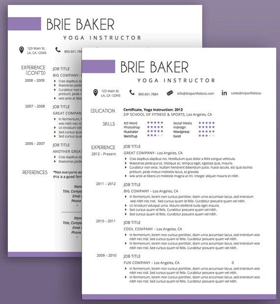 Creative Resume Template, CV Template + Cover Letter, Modern Resume - cv vs resume