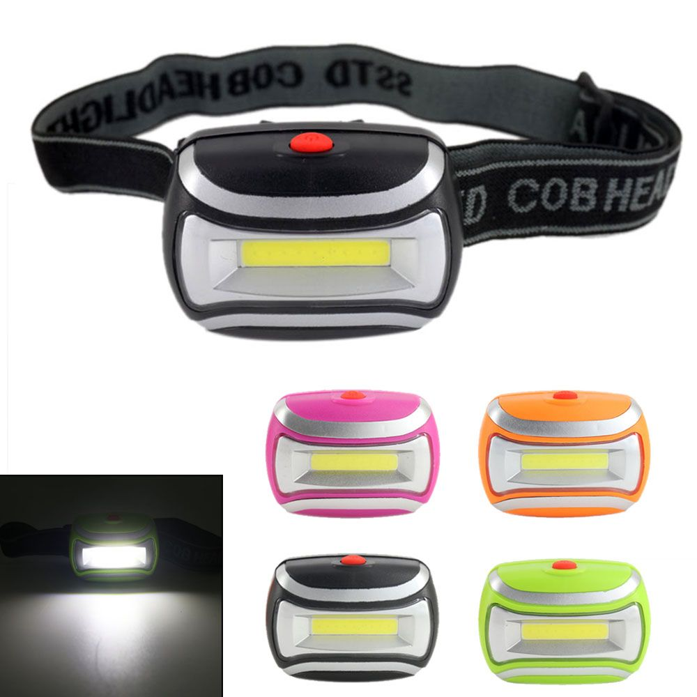 4 Colors COB LED Headlamp  Mini Waterproof Headlight 3 Modes Outdoor Head Light Lamp Fishing Camping Hiking Cycling Hunting