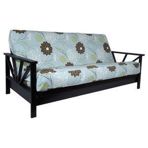 Arial Black Walnut Full Futon Set By Strata Furniture Wall Hugger Frame Modern Style
