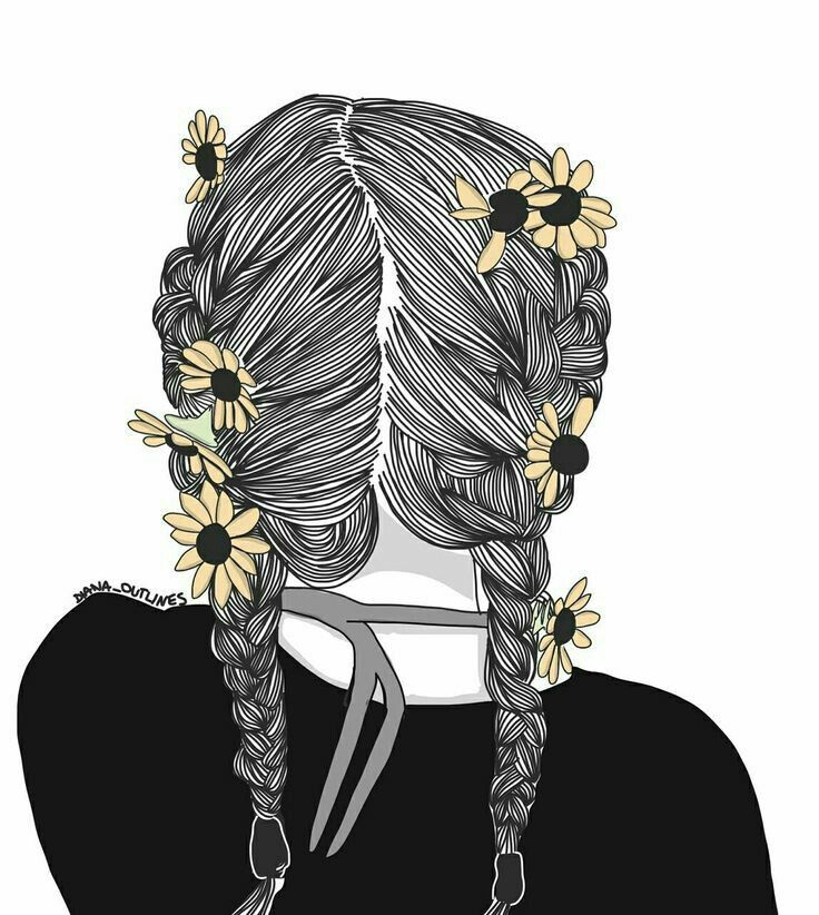 Ilustração De Garota Tumblr De Costas Fotos Tumblr