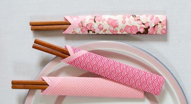 origami facile un tui baguettes asian theme. Black Bedroom Furniture Sets. Home Design Ideas