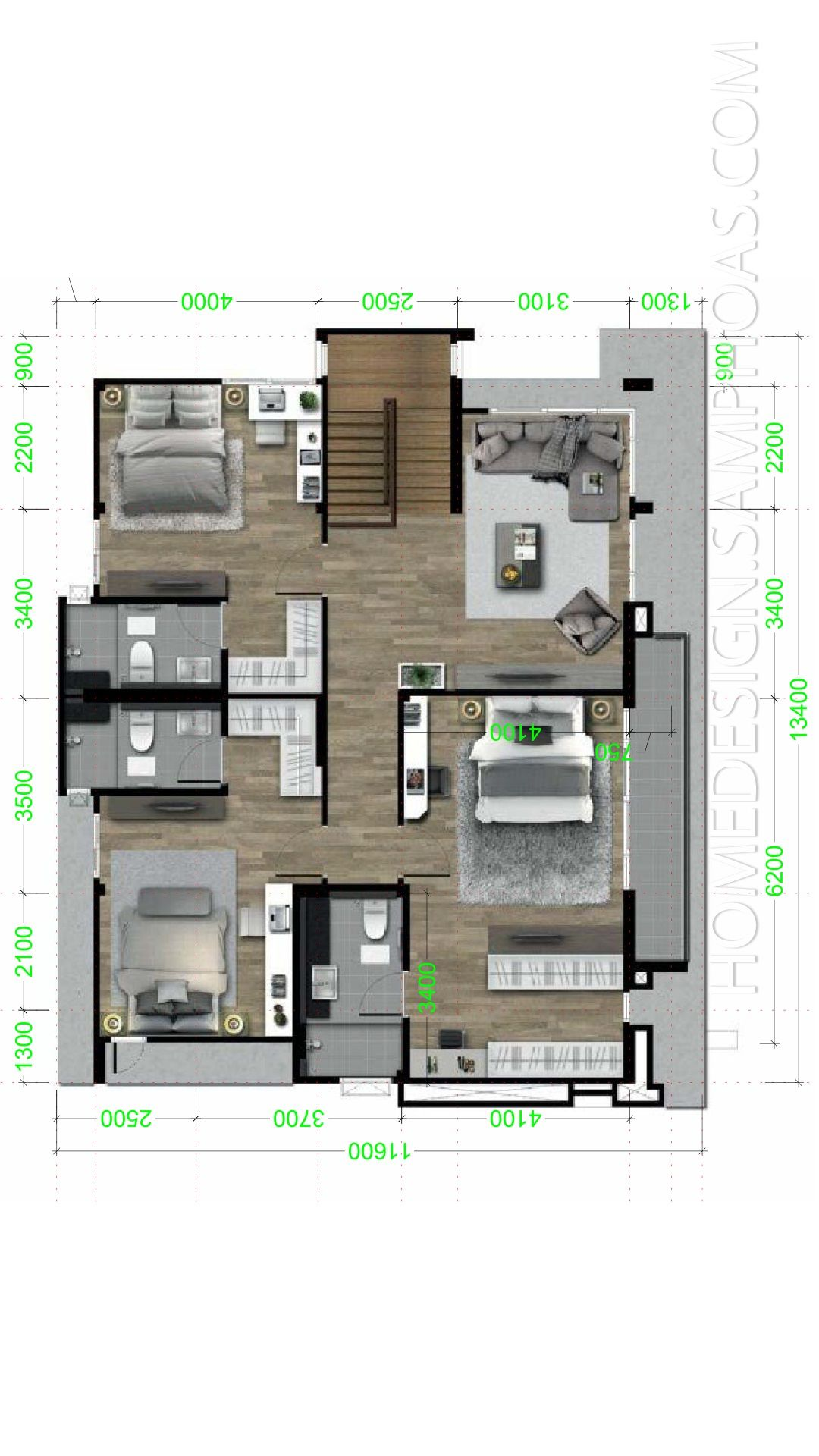 House Design Plans 13x14m With 4 Bedrooms Home Ideas Home Design Plans House Design Two Story House Design
