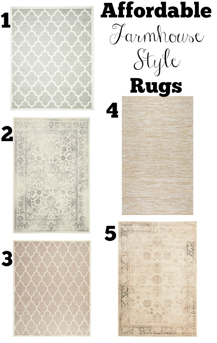 Affordable Farmhouse Style Area Rugs