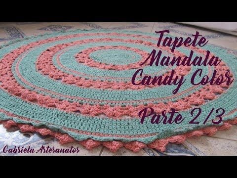 Passo A Passo Tapete Mandala Candy Color Parte 23 Youtube
