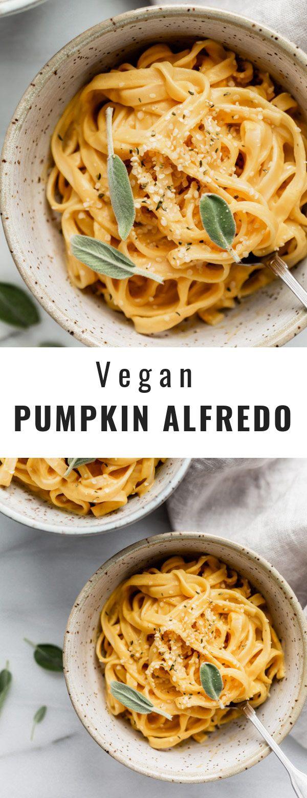 Vegan pumpkin alfredo #autumnseason