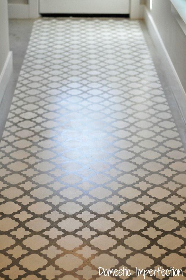 Stenciling A Concrete Floor Bodenfarbe Nase Und Fliesen - Bodenfarbe für fliesen