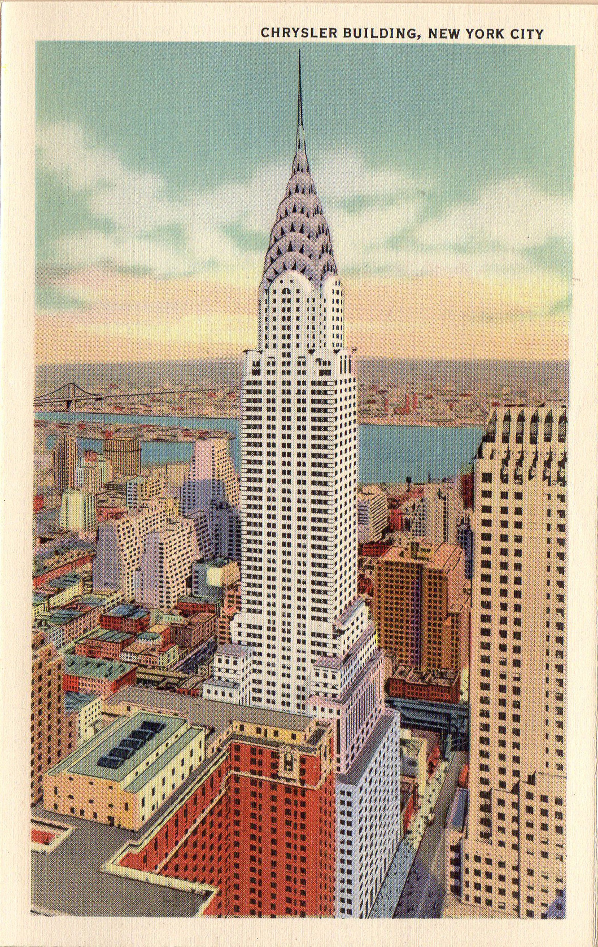 1940 S Postcard Hagins Collection Chrysler Building City