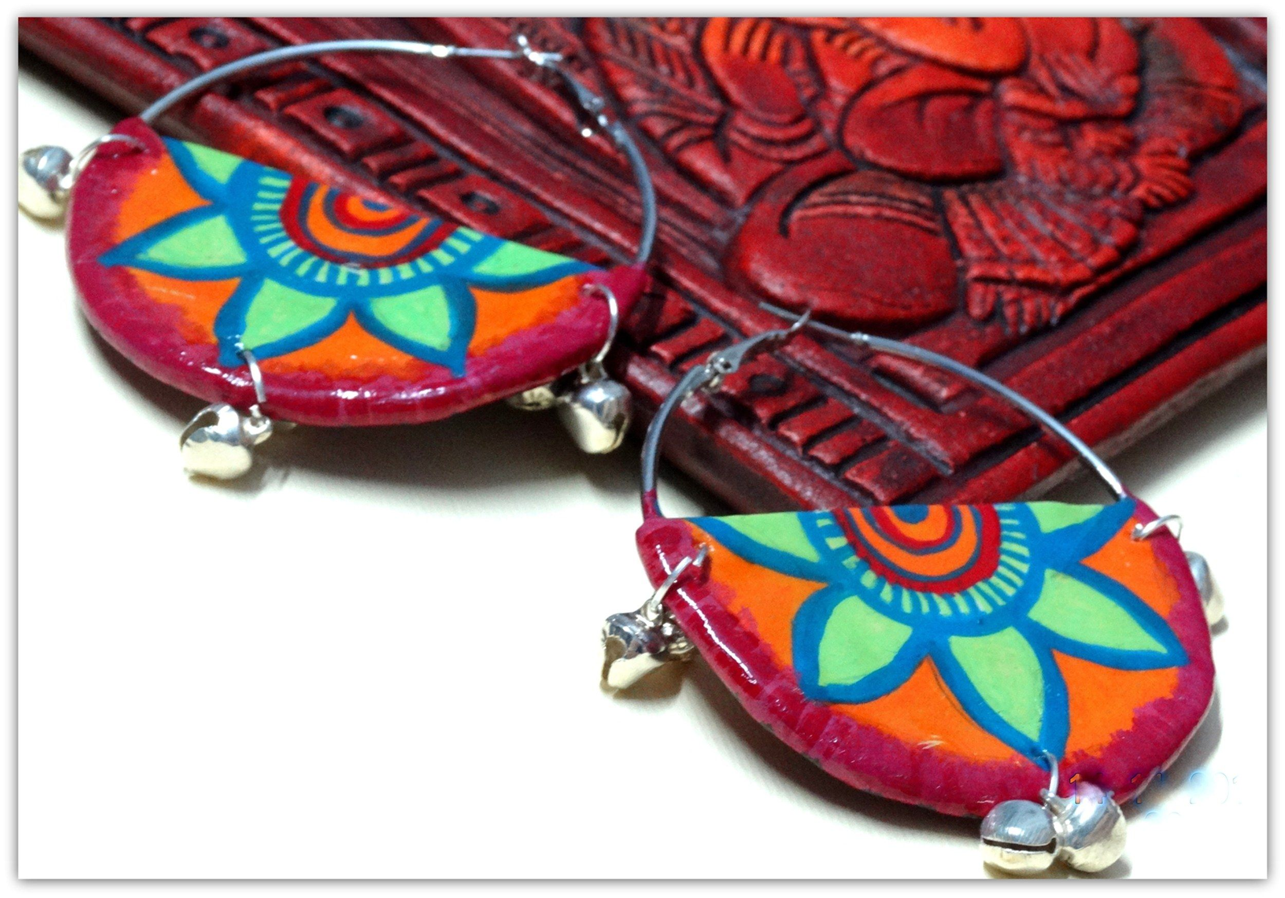 earrings leather and plugs handmade artisan by gold feather magnetic gauges clasp gauged painted black hand belladrops