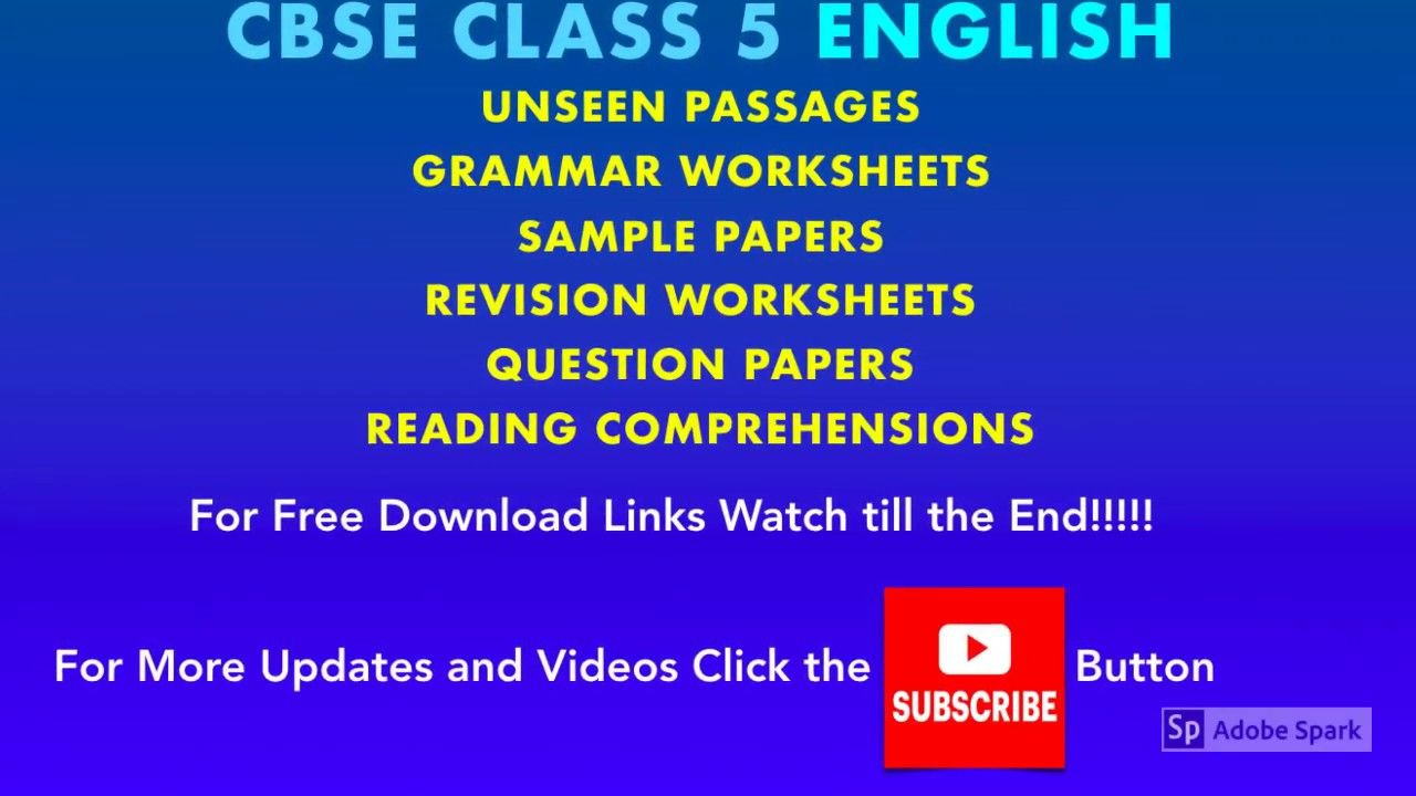 Cbse Class 5 English Grammar Worksheets Sample Papers Unseen Passages English Grammar Worksheets Grammar Worksheets Reading Comprehension Worksheets [ 720 x 1280 Pixel ]
