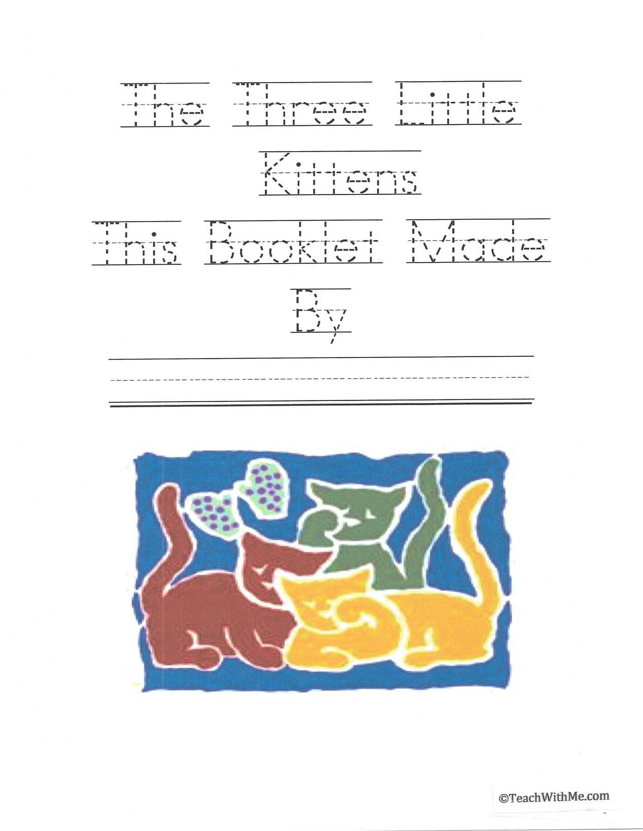 Booklet Three Little Kittens Classroom Freebies Kids Poems