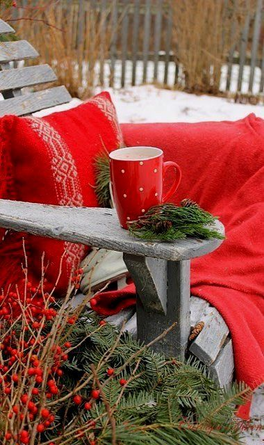 Christmas outdoors..