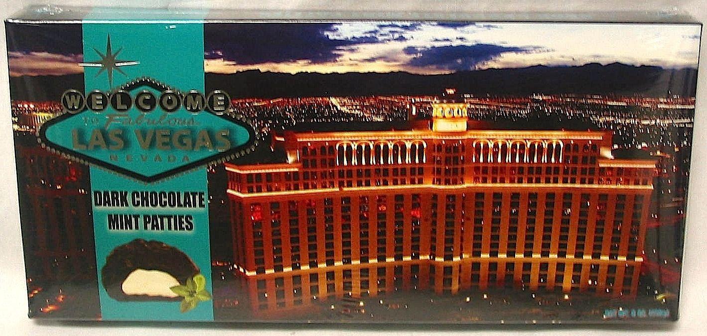 1310 Night Las Vegas At Night Lv Night Dark Chocolate Mint Patties Upc 399824313107 Warning Message Candie Dark Chocolate Mint Mint Chocolate Mint Patties