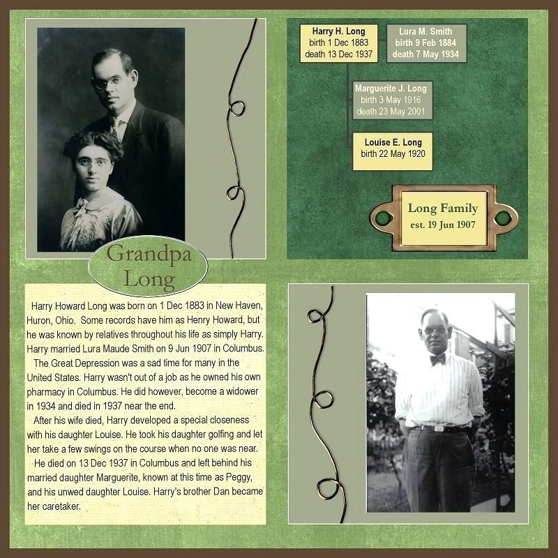 Family History Scrapbook Pages Family History Scrapbook Layouts