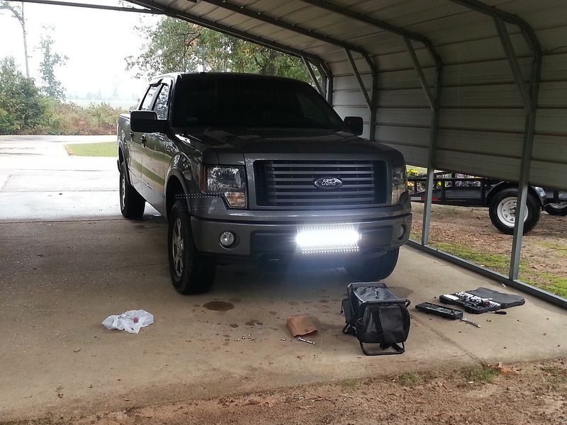 Generic Led Light Bar Install Pics Page 2 Ford F150 Forum