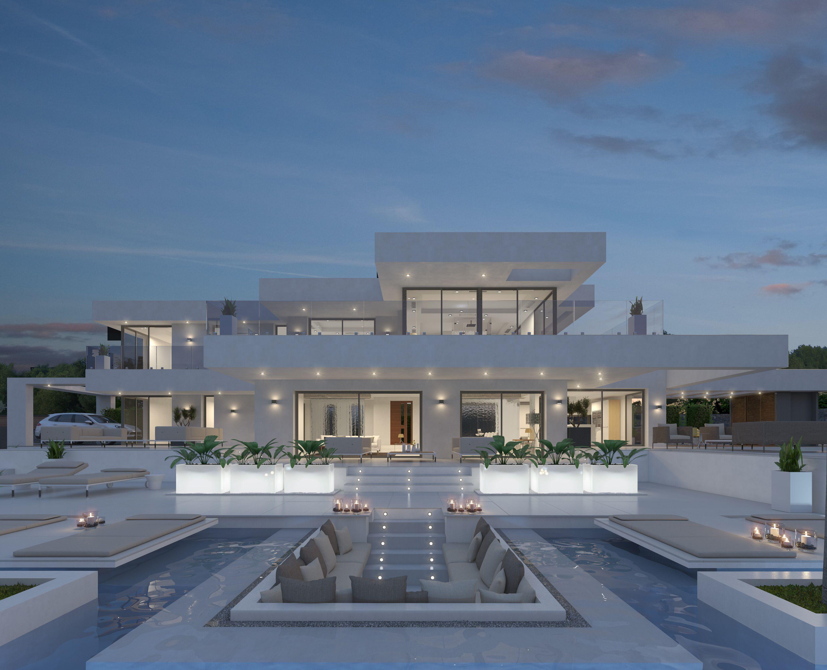Pgk archviz arquitectura exteriores 3d pinterest for Luxury house builders