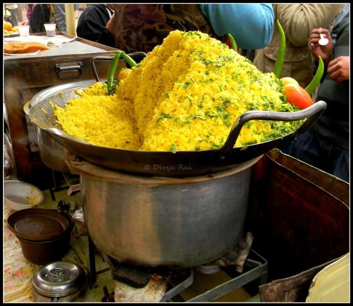 poha in pushkar rajasthan street food india ekplate ekplatepoha