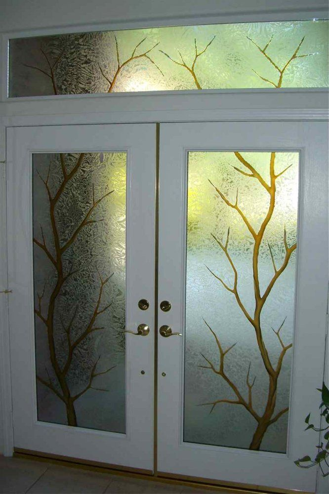 Frosted Glass Front Doors For Homes Etched Door Glass Sans