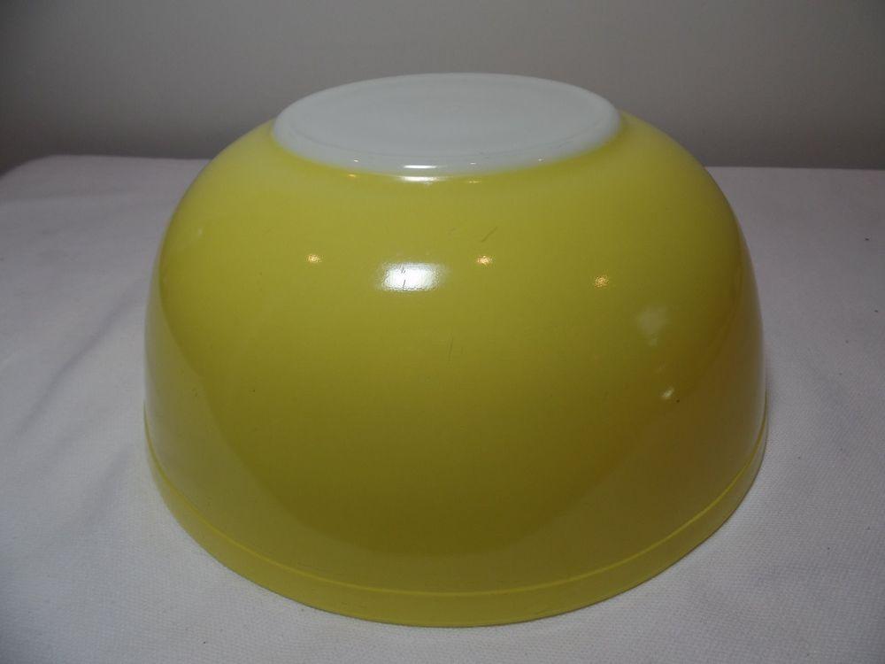 "10"" Yellow Pyrex Bowl Large | eBay"