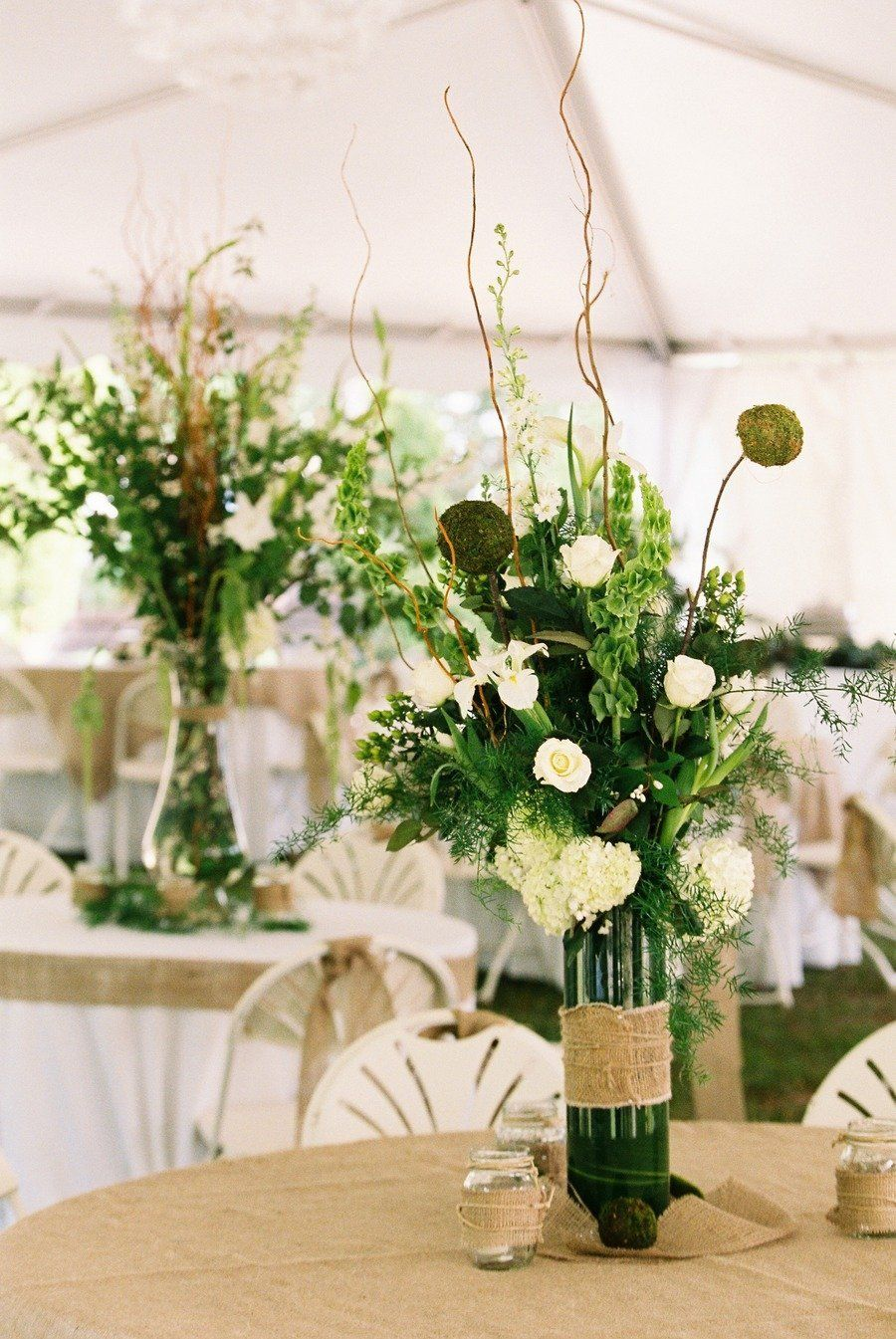 #centerpiece Photography by virgilbunao.com  Read more - http://www.stylemepretty.com/2012/08/27/backyard-sumter-wedding-from-virgil-bunao-fine-art-weddings/