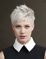 image result for white short spiky hairstyles  short hair