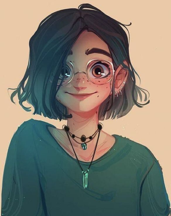 Aesthetic Cartoon Girl