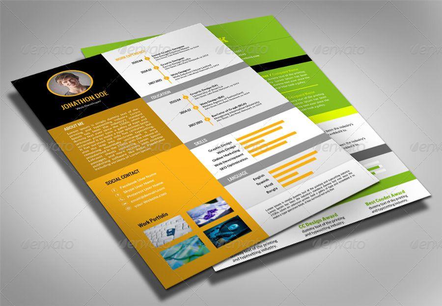 Ms Word Resume Pack  Graphicriver  Ceevee    Resume