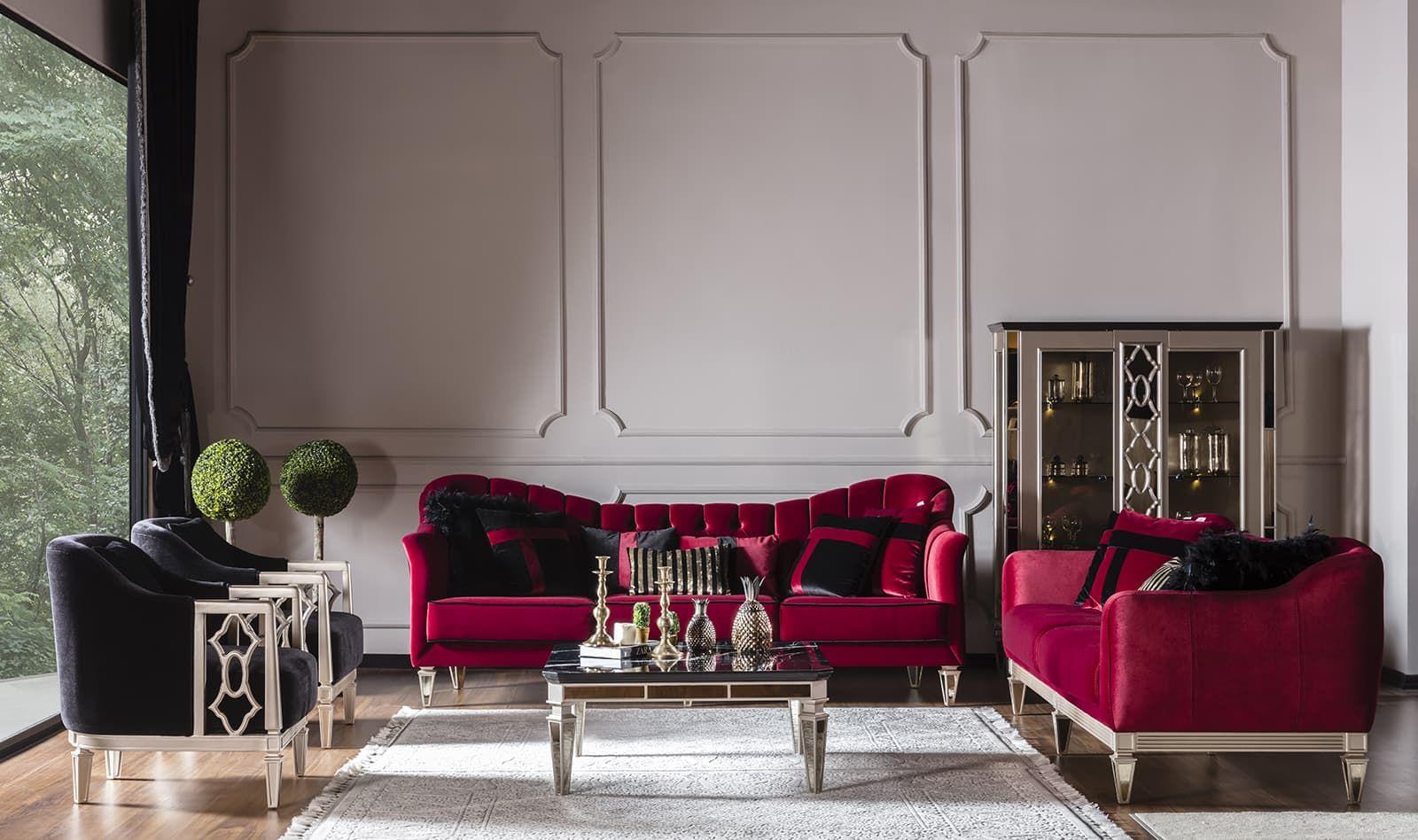 Class Red Koltuk Takimi Mobilya Fikirleri Art Deco Koltuklar