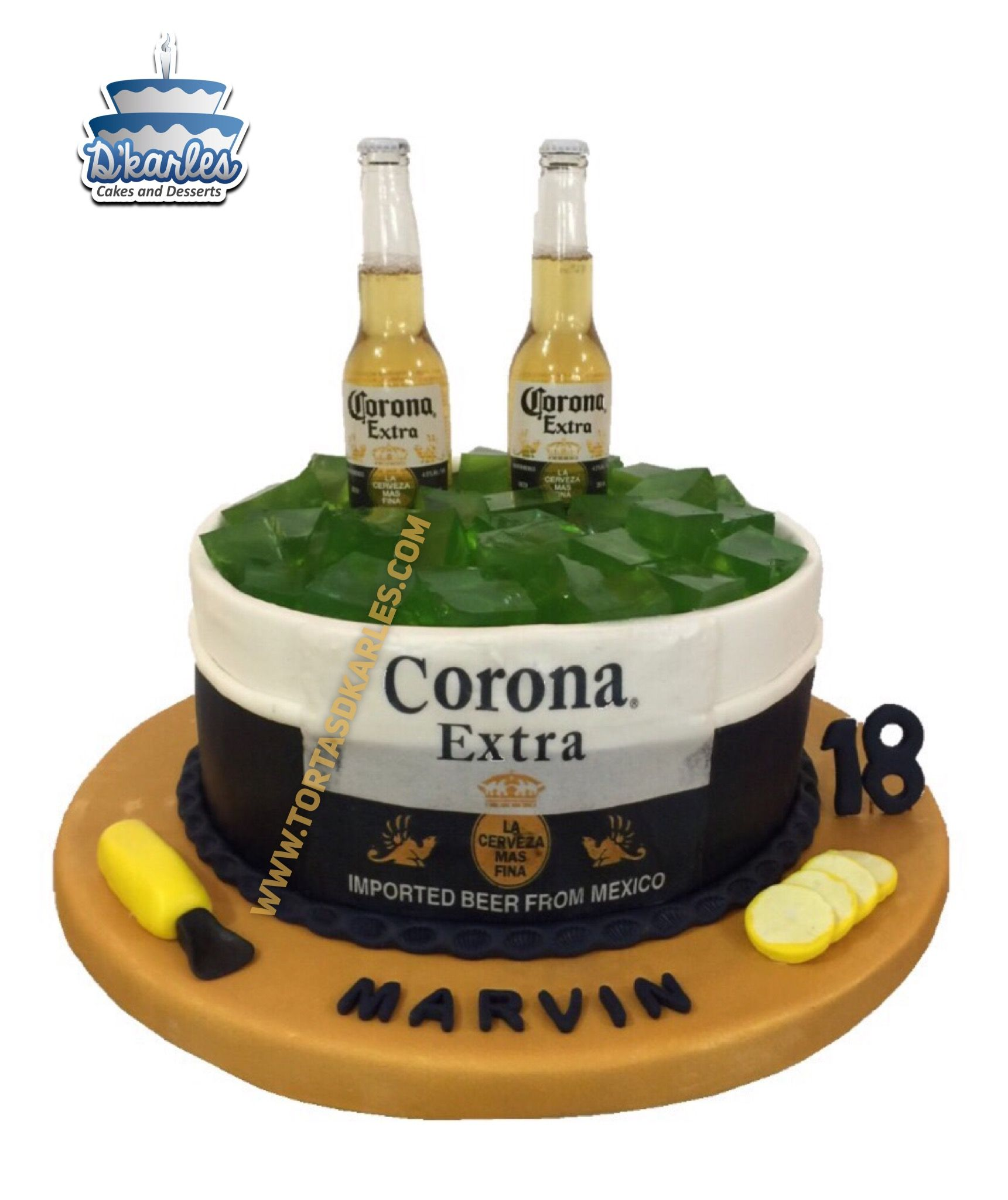 Corona Beer Birthday cake coronacake BEER RECIPES