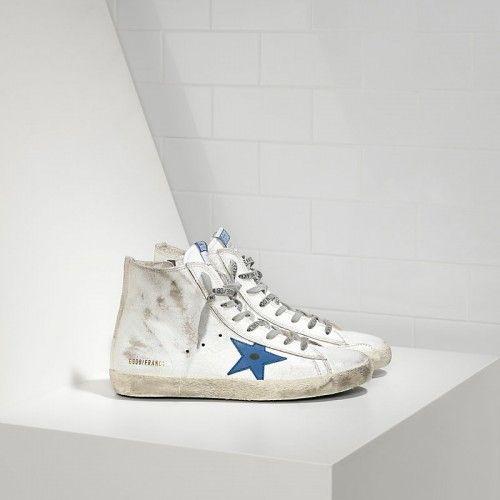 GGDB Damen - Kaufen Golden Goose Francy Sneaker Im Leder Und Blau Leder  Star Damen Schuhe Sale d7d953cd54