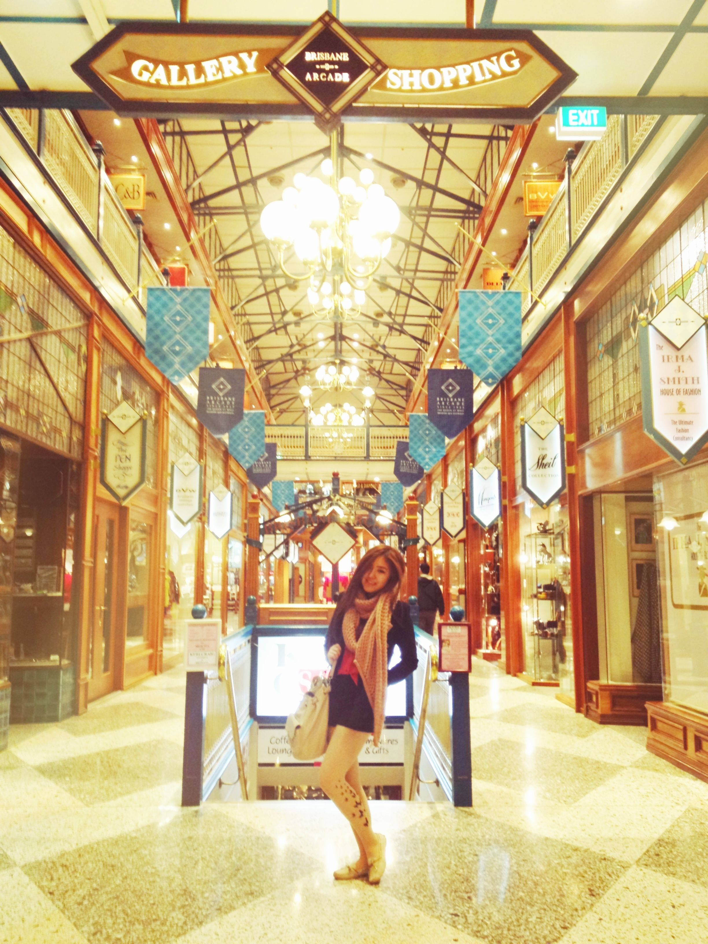 In brisbane arcade ! A bright and luxurious looking place!