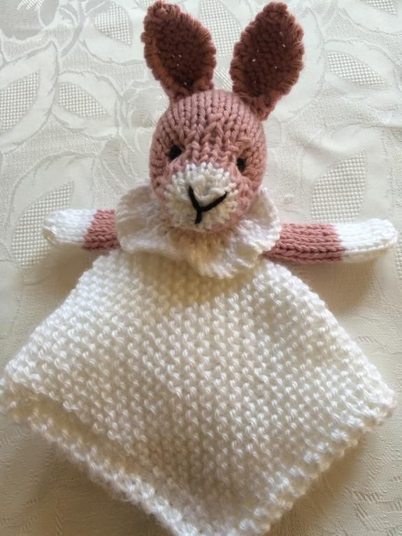 6) Name: \'Knitting : Bunny Mini Cuddly Blankie | Tricot - Peluches ...