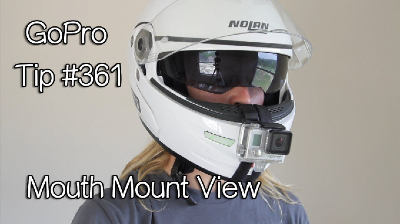 Gopro Mouth Mount View On Motorcycle Helmet Gopro Tip 361