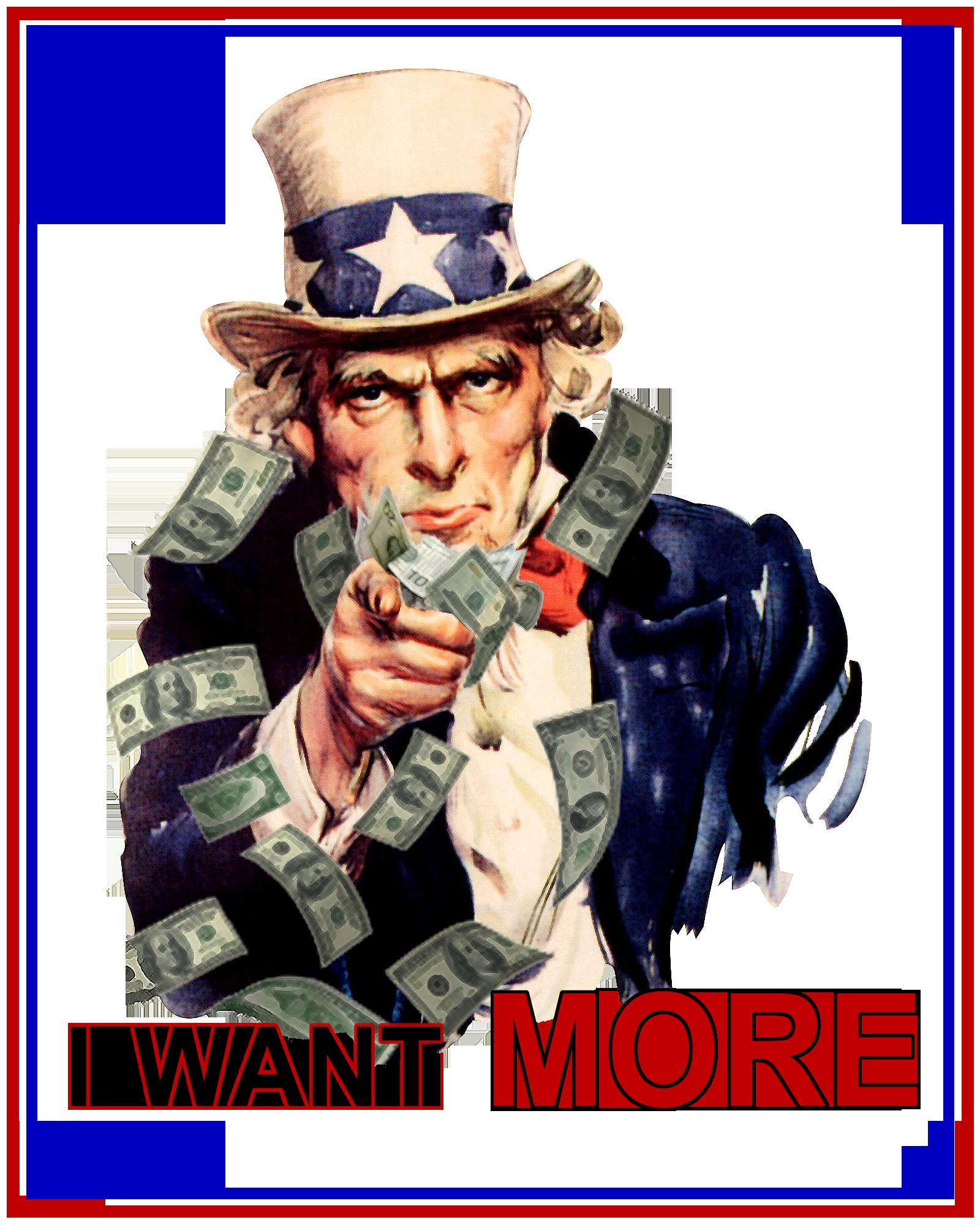 Uncle Sam Making It Rain Money Demands I Want More Uncle Sam Ponzi Scheme Because The Internet