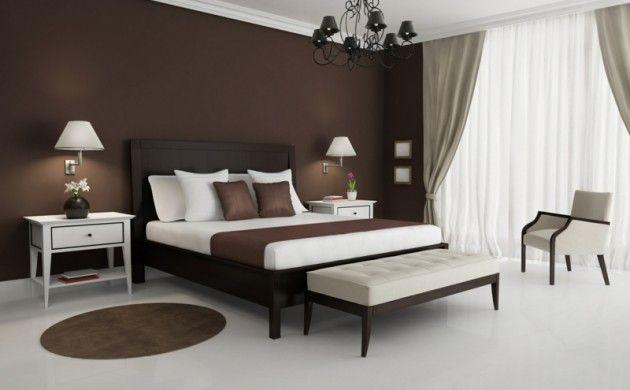 braune wandfarbe schlafzimmer wandgestaltung mit farbe - Fantastisch Braune Wandfarbe Schlafzimmer
