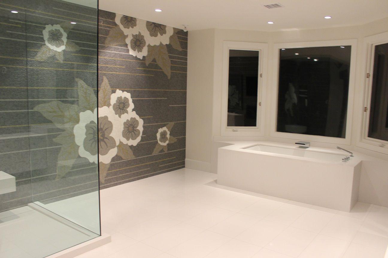 Sonite Custom Mosaic Master Bathroom Shower