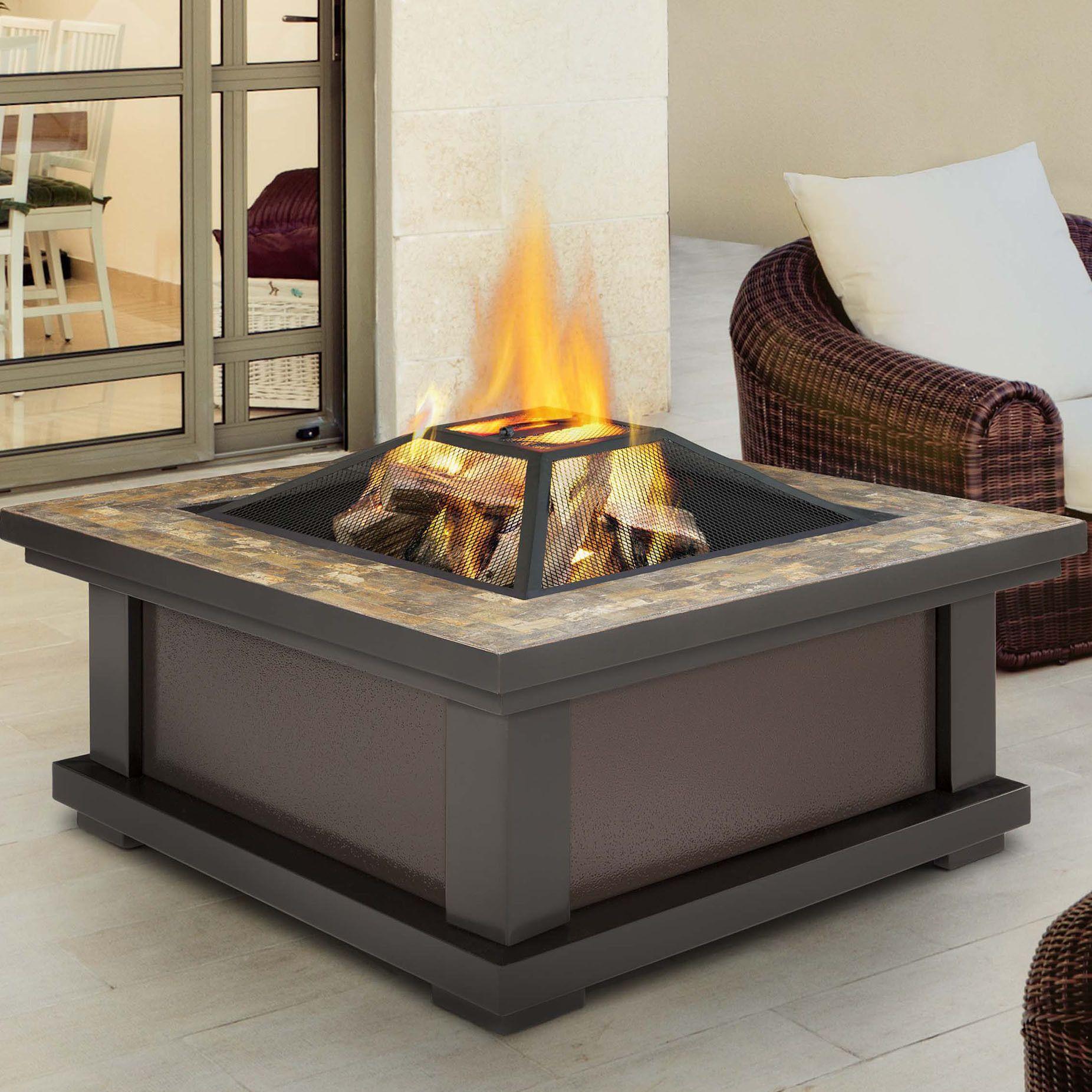 alderwood steel wood burning fire pit table products fire pit rh pinterest com au