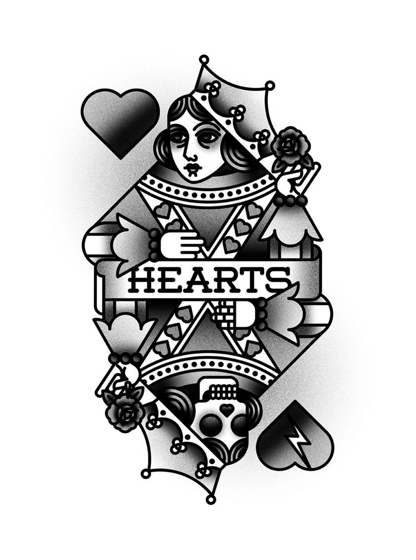 Bocetos De Tatuajes Tradicionales bnomio | tatuaje de reina de corazones, bocetos tatuajes y