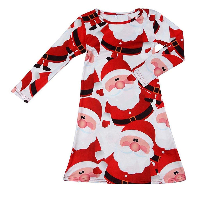 Saingace Kinder-Baby-roter Weihnachtsmann -Weihnachts Langarm-Swing ...