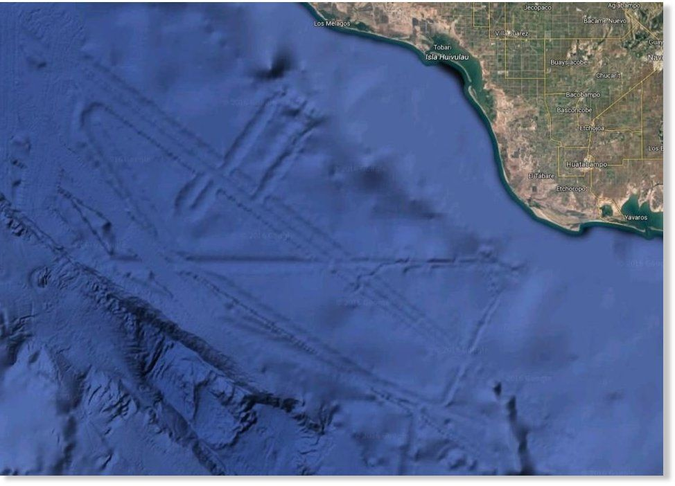 This strange pattern in the Gulf of