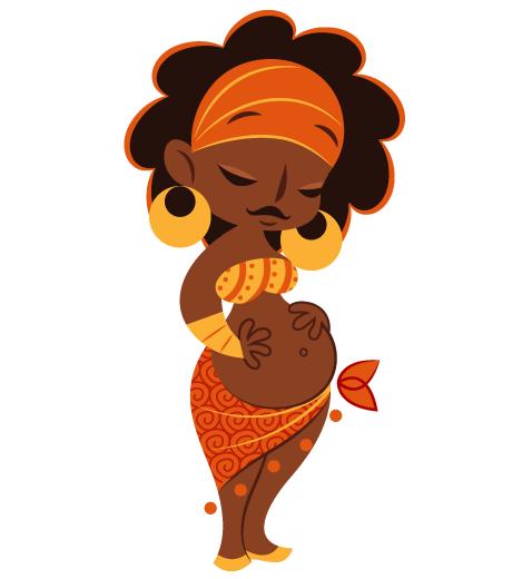 Dribbble Pregnant Png By Momo Sprits African Art Black Girl Art Art Girl