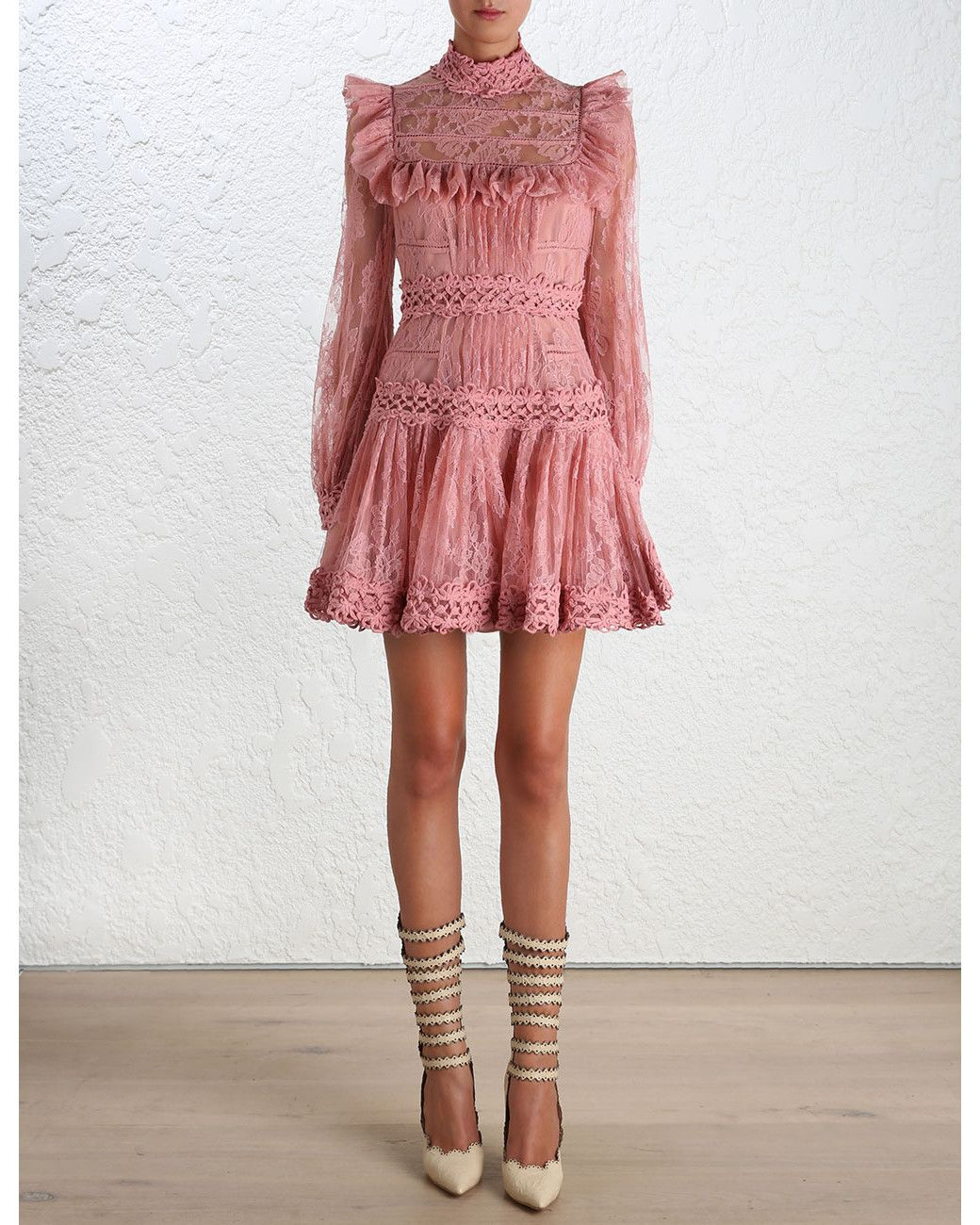 93260e30ebf320 Zimmermann | Pink Mischief Peony Lace Dress | Lyst | Fashion in 2019 ...